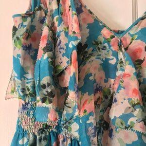 REBECCA TAYLOR floral maxi dress